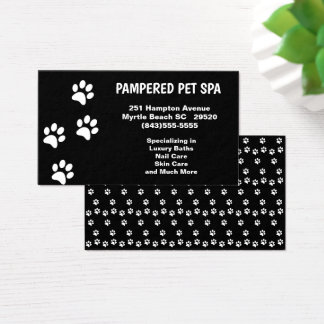 Pet spa business cards business card printing zazzle uk for 4 paws pet salon