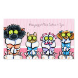 Pet Groomer Spa Dogs Cat Robes Pink Appointment Pack Of Standard Business Cards