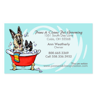 Pet Groomer Spa Wet Dogs Carribean Appointment Business Card Templates