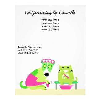 Pet Groomer's Promotional 21.5 Cm X 28 Cm Flyer