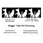 Pet Grooming Business And Appointment Card Pack Of Chubby Business Cards