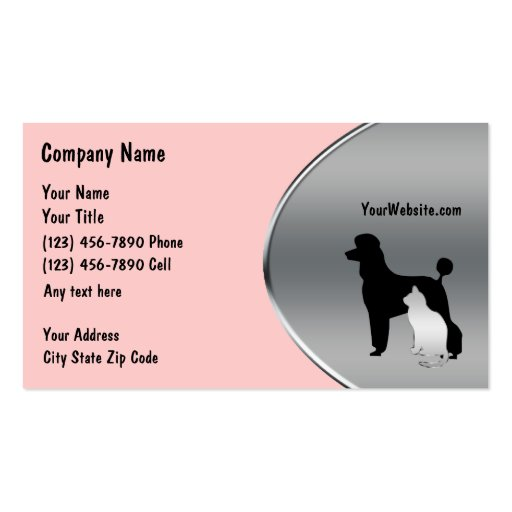Collections of Pet Supplies Business Cards
