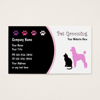 181 cat paw business cards and cat paw business card for Grooming business cards