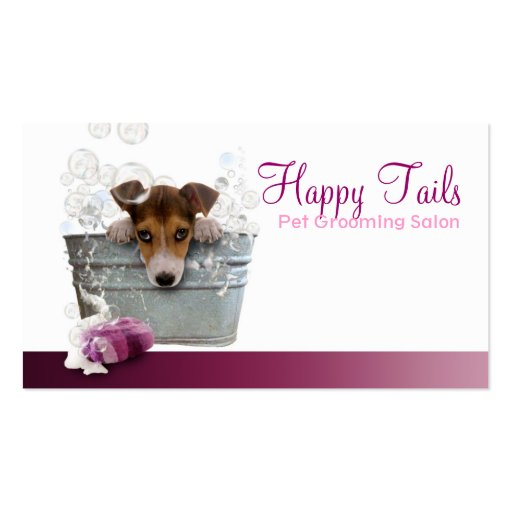 Pet Grooming Business Hall card Business Cards