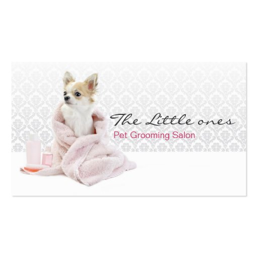 Pet Grooming Business Hall card Business Card Template