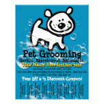 Pet Grooming. Customisable Promotional Tear sheet