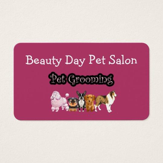 Pet Grooming Modern Businesscards Business Card