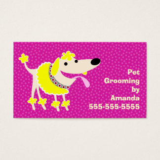 Pet Grooming Services Business Card