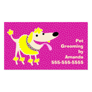 Pet Grooming Services Pack Of Standard Business Cards