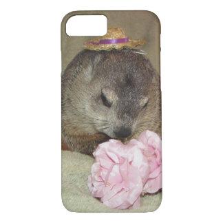 Pet Groundhog Clara with Flower iPhone 7 Case