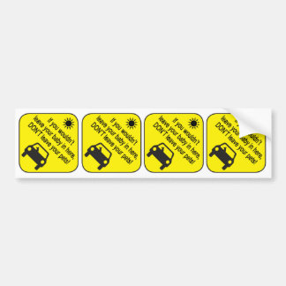 Pet Heat Warning Sticker Bumper Sticker