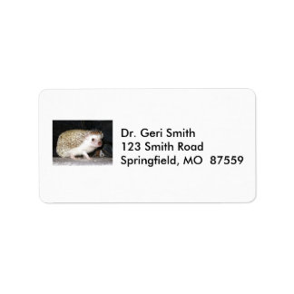 Pet Hedgehog Address Label