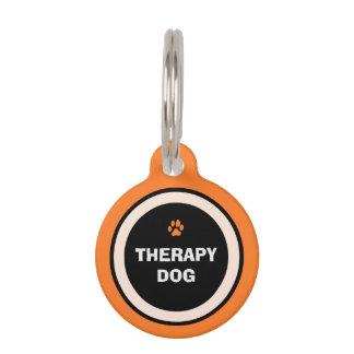 Pet ID Tag - Orange & Black- Therapy Dog