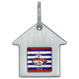 Pet ID Tag - Sailing Theme - Anchor