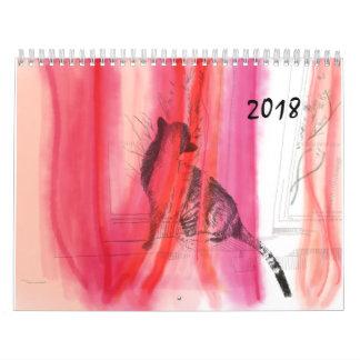 Pet illustration wall calendar