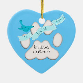 pet in loving memory blue ornament Add photo