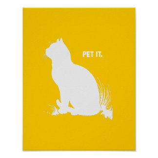 PET IT - WHITE - png Poster