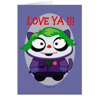 PET JOKER MONSTER  CARTOON Note Card