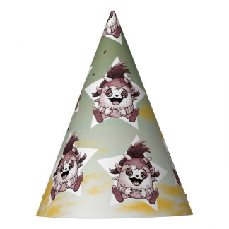 PET JOLY MONSTER PARTY HAT BROWN