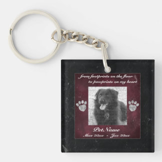 Pet Keepsake Memorial Tribute Marble Effect Key Ring