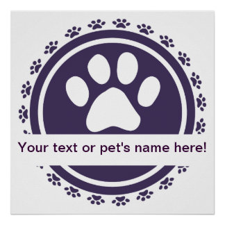 pet label blue print