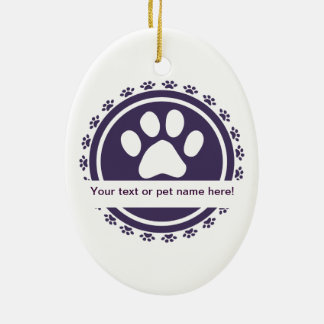 pet label christmas tree ornaments