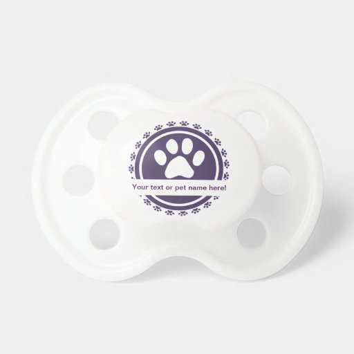 pet label baby pacifier