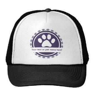 pet label trucker hat