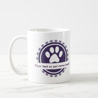 pet label mugs