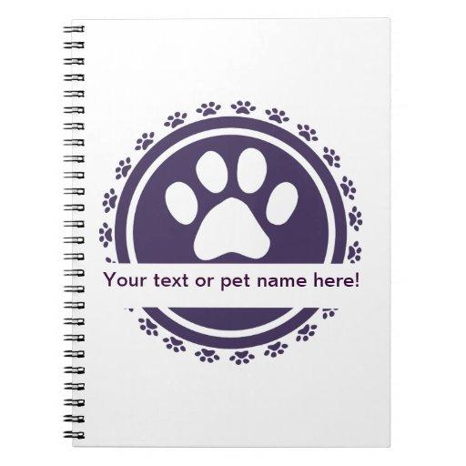 pet label notebooks