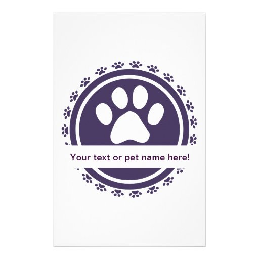 pet label stationery paper