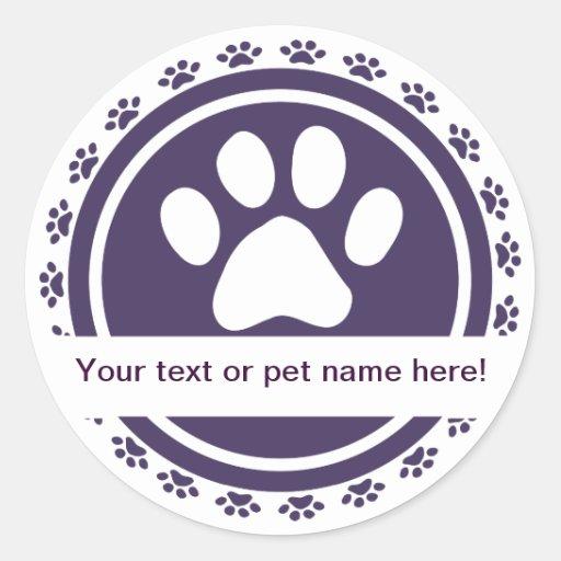pet label round stickers