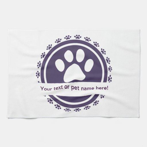pet label hand towel
