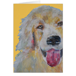 Pet loss | Dog | sympathy card Golden Retreiver