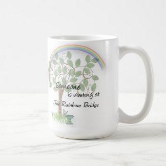 Pet loss, pet sympathy mug Rainbow Bridge