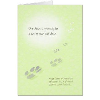 Pet Loss Sympathy Card - Pawprints