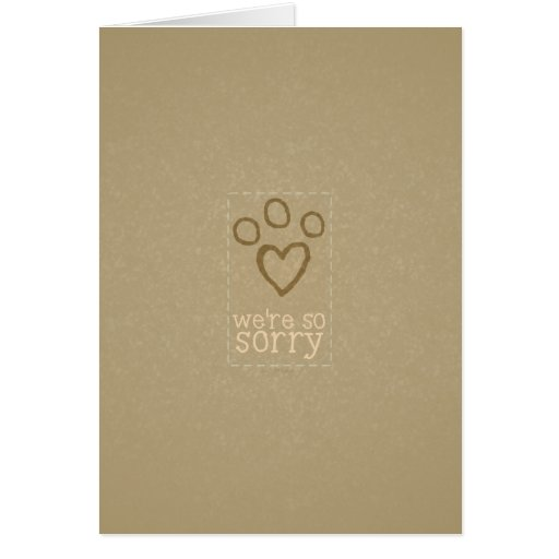 Pet Loss Sympathy From Group Card