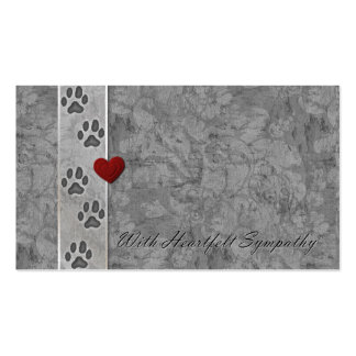 Pet Loss Sympathy Pack Of Standard Business Cards