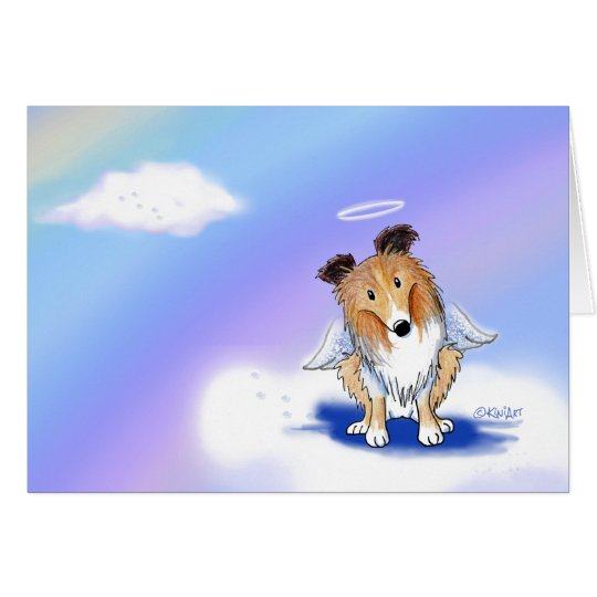 Pet Loss Sympathy Sheltie Angel Card