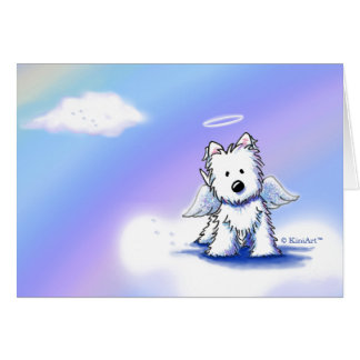 Pet Loss Sympathy Westie Angel Card