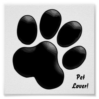 Pet Lover! Paw Print
