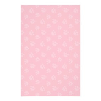 Pet Lover Paw Print Hearts Bubble Gum Personalised Stationery