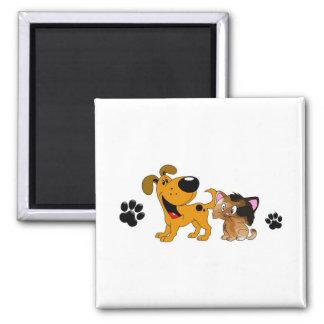 Pet Lovers! Best Friends Square Magnet