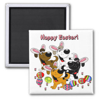 Pet Lovers! Easter Eggs Square Magnet