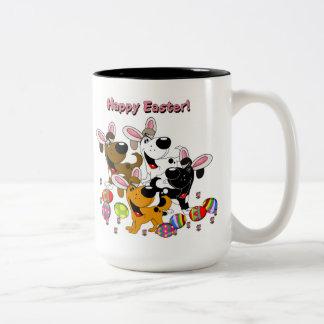 Pet Lovers! Easter Eggs Two-Tone Mug