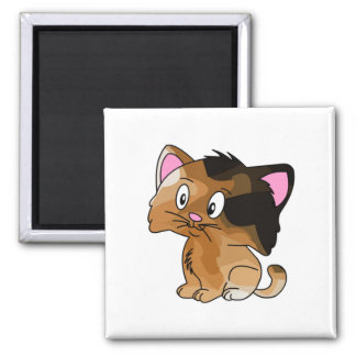 Pet Lovers! Kitty Square Magnet