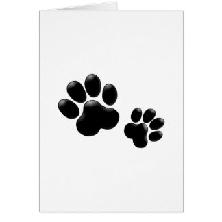 Pet Lovers! Pup and Kitty PawPrints Card