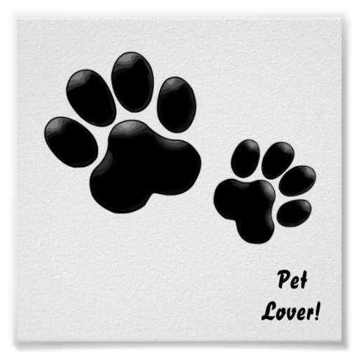 Pet Lovers! Pup and Kitty PawPrints Poster