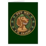 Pet Me! I'm Irish Greeting Card