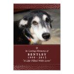 Pet Memorial Card 3.5 x 5 Maroon God Saw You Poem 9 Cm X 13 Cm Invitation Card